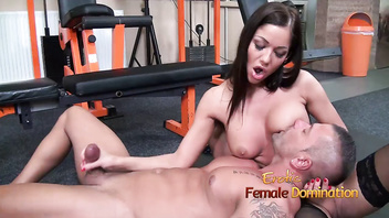 Angelica heart smothers her slave with her breasts