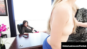School Slut Kimber Lee Fucked By Ms. Green & Ms. Sara Jay!