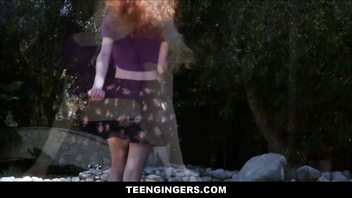 Cute Teen Ginger Redhead Abbey Rain Fucked By Dude With A Huge Cock