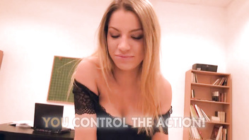 Angel Rivas - Cute Blonde Fucked Hard by Two (POV)