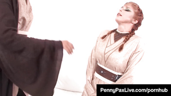 Cosplay Jedi Penny Pax & Skin Diamond Use The Sexual Forze!
