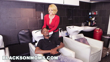 BLACKSONMOMS - Hair Stylist Anal At Hair Studio (xa15187)