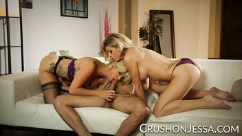 CrushGirls - Jessa Rhodes and Savana Styles share a big cock