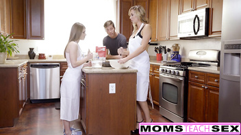 MomsTeachSex - Horny Step Mom Tricks Teen Into Hot Threeway