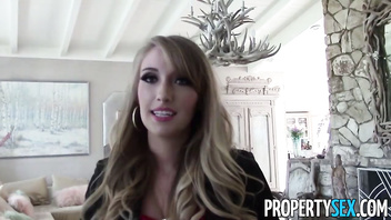 PropertySex - Unboxing video turns into sex video with hot real estate agent