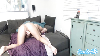 Abigail Mac big ass brunette spreading her vagina and masturbating.