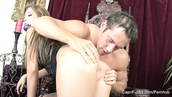 Kinky brunette Capri Cavanni gets some cock