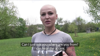 PublicAgent Glamour model with big tits fucked outside