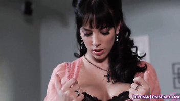 Jelena Jensen Cums With Glass Dildo!