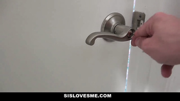 SisLovesMe - Creeping on StepSis In The Shower To Fuck