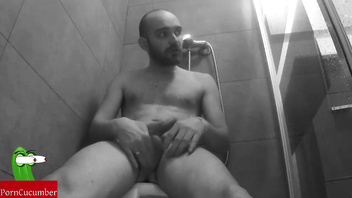 Masturbation in the shower.SAN70