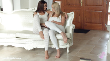Sensual lesbian scene by Sapphix with Christen Courtney and Alexis Brill - Book