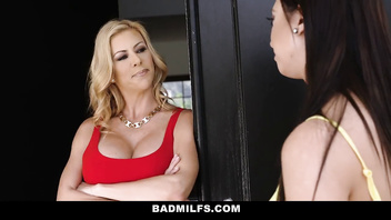 BadMILFS - Busty Milf Teacher Tricks Student Into Hot Threesome