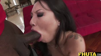 Fhuta - Huge black cock splits tight Asian ass