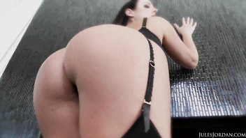 Angela White playing with BBC