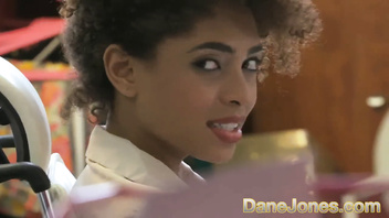 Dane Jones Sexy young Ebony office girl has the hots for her boss