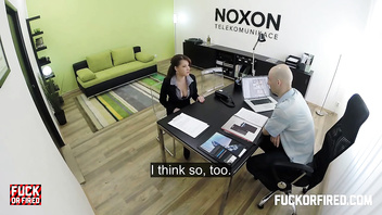 Fucked hard in an office
