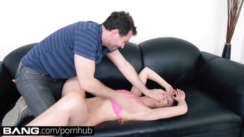 BANG Casting: Amateur Nicole Clitman Gets her Tight Asshole Stretched