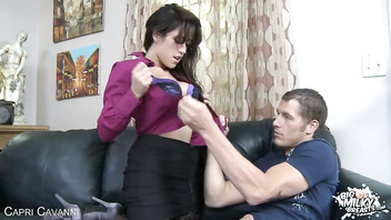 Busty Capri Cavanni ride a big cock