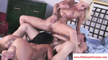 Nikita Von James jizzed on during ffm