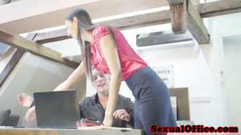 Skinny czech secretary shagging her boss