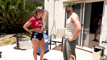 Lisey Sweet's Country Ass 4th of July Party With Her Stepdad