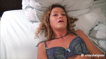 She masturbates just after facial cumshot