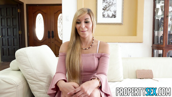 PropertySex - Hot Spanish real estate agent takes creampie load