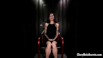 Gloryhole swallow Luna Lovely 1st visit