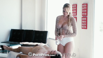 PornPros Sensual massage fuck and facial with freckled Skyla Novea