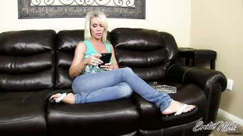 Erotic Nikki - StepMom Sucks Stepson's Cock POV After reading His Texts