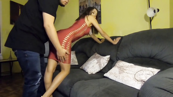 Husband and wife fuck just before Xmas Party