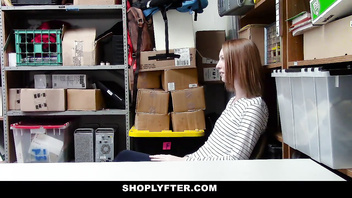 ShopLyfter - Ginger Teen Gets Arrested and Fucked