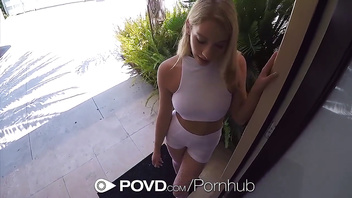 POVD Fuck and facial with pierced nipple blonde Khloe Kapri