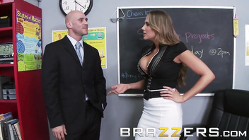 Brazzers - Alanah Rae & Johnny Sins - Mean Teacher Fuck Her Former Student