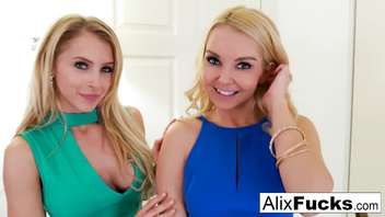 Alix Lynx Birthday double BJ!