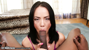 Kristina Rose Throats BBC and it's Sloppy!
