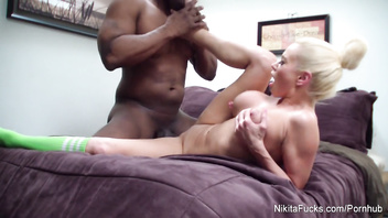 Nikita Von James Fucks A Huge Black Cock