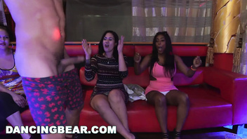 DANCING BEAR - Big Dick Studs Sling Dick In Strip Club During CFNM Party