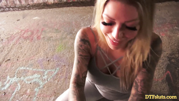 PORNSTAR KARMA RX PUBLIC ROUGH DOGGY FUCK IN A DIRTY TUNNEL SEX TAPE