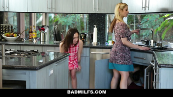 BadMILFS - Busty MILF Teaches Cute Teen To Fuck