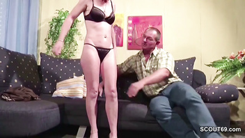 German Tight Mature Seduce to Fuck by Neighbour When alone