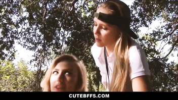 Sexy Blonde Teen Camp Counselor Seduced By Tiny Teen Lesbians At Camp