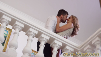 Dane Jones Hot eager Ukranian sloppy blowjob and fucking on the stairs