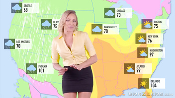 Dirty weather girl Juelz Ventura loves anal - Brazzers