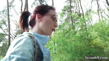 GERMAN SCOUT - REDHEAD SCHOOLGIRL LIA SEDUCE TO FUCK PUBLIC FOR MONEY