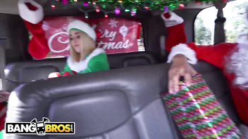 BANGBROS - Maddie Winters Dresses Like Elf On Bang Bus, Gets Power Fucked