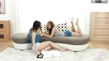 Candy Sweet and Candy Bell play with each other on Sapphic Erotica