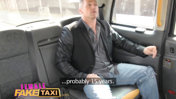 FemaleFakeTaxi Hot female driver fucks lucky British guy on bonnet