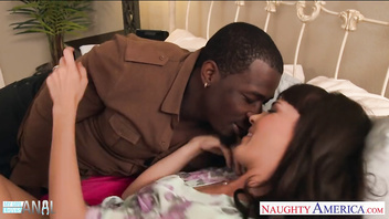 Hot brunette Dana DeArmond gets ass black hammered
